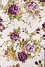 Ткань для штор (портьерная) принтованная. Рисунок: Райский сад. Цвет: пастельный прозовый., фото 4