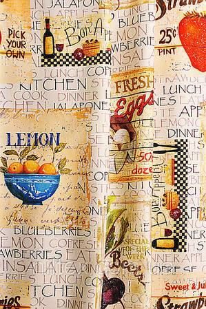 Ткань для штор (портьеры). Рисунок: Уличное кафе.