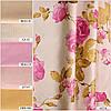 Портьерные ткани (принтованные) для штор. Рисунок: Розовые фантазии - цветочный узор.