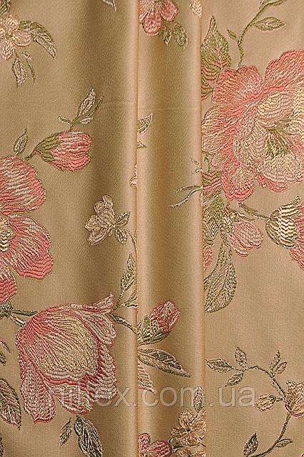 Ткань для штор (портьеры). Рисунок: Нежные тона природы.
