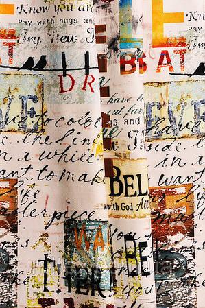 Портьерная ткань (принтованная) для штор. Рисунок: Бульварный принт.