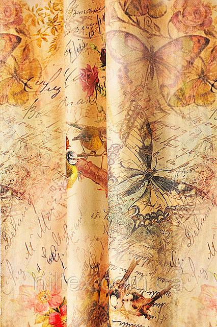 Портьерная ткань для штор. Рисунок: Узоры - ботанический сад.