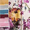 Ткань для штор (портьерная) принтованная. Рисунок: Цветочный бриз. Цвет - мультиколор., фото 3