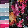 Ткань для штор (портьерная) принтованная. Рисунок: Цветочный бриз. Цвет - мультиколор., фото 4