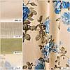 Ткани для штор (портьеры) принтованные. Рисунок: Пышные бутоны. Мультиколор., фото 5