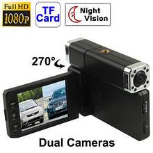 Відеореєстратор DVR X5000 з 2 камерами Full HD авто реєстратор