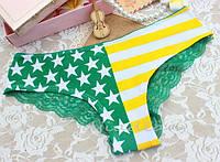 Трусики/Слипы гипюр Victoria's Secret, зеленые, фото 1