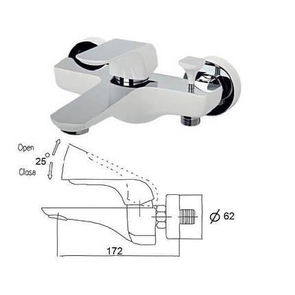 Смеситель для ванны (Белый/Хром) VENEZIA Skyline 5010401  (Бесплатная доставка  ), фото 2