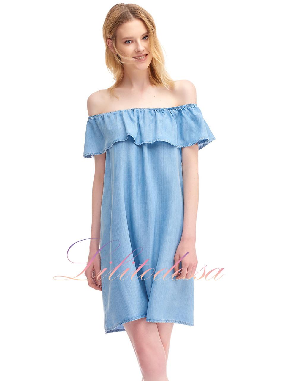 fbcc04623cf Джинсовый Сарафан с открытыми плечами - LILIT ODESSA оптово-розничный  магазин женской одежды в Одессе