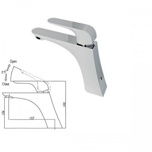 Смеситель для умывальника (Белый/Хром) VENEZIA Skyline 5010404 (Бесплатная доставка  )