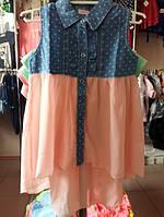 Детское платье туника  для девочки на 4-12лет