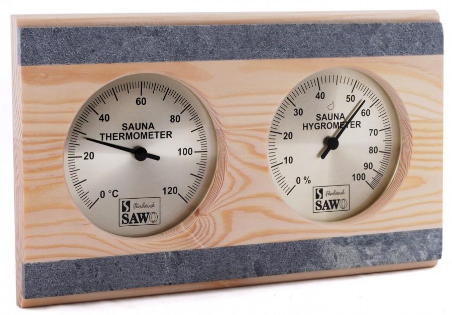 Термогигрометр для сауны в талькохлорите Sawo 282-THRP