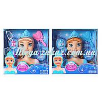 """Кукла манекен для причесок """"Холодное сердце/Frozen"""" 18см: Эльза/Анна + расческа + заколки"""