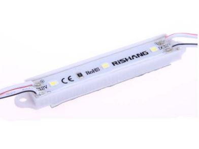Светодиодный модуль  белый 0.7Вт M143ТА кластер 3 лед 2835 белый 7000К 0.7вт для рекламы 7739