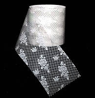 Фольга для ногтей 1 метр белый свадебный ажур, новый дизайн