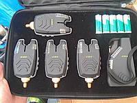 Набір сигналізаторів покльовки в кейсі 4шт + рація, фото 1
