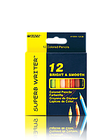 Набор цветных укороченных карандашей 12 цветов Марко