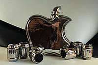 Штоф керамический яблоко с рюмками