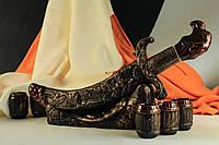 Штоф керамический меч с рюмками