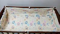 Постельное бельё в кроватку Мишки с шариками бежевое  6 элементов