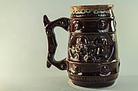 Пивной керамический бокал с козаком