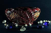 Резная малая керамическая конфетница Ромашка
