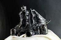 Штоф керамический Парус малый с рюмками