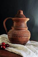 Кувшин керамический из красной глины