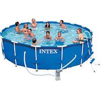 Бассейн семейный круглый каркасный Intex 28234