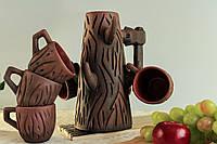 Питьевой набор, красная глина