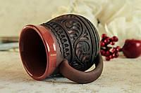 Чашка с узором, красная глина