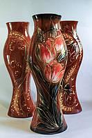 Керамическая ваза Дольче Велла, красный тюльпан
