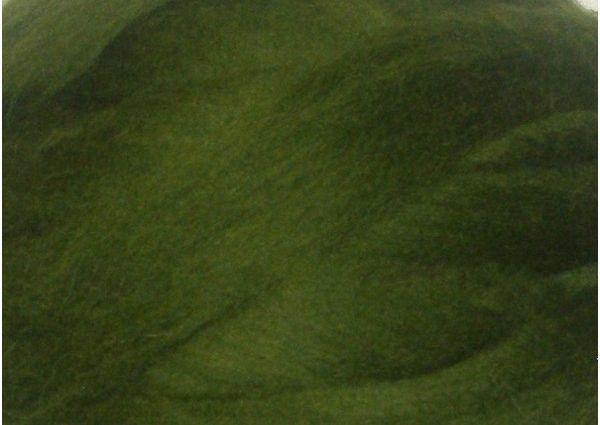 Толстая, крупная пряжа 100% шерсть 100г (4м). Цвет: Болотный. 25 мкрн. Топс. Лента для пледов