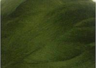 Толстая, крупная пряжа 100% шерсть мериноса. Цвет: Болотный. 26-29 мкрн. Топс.