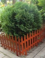 Заборчик для газона 45см секция Терракотовый
