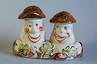 Набор керамический для специй Грибы белые с коричневыми шляпками
