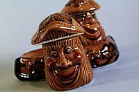 Набор для специй Коричневые грибочки, керамика