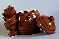 Горшочек керамический для меда с мишкой