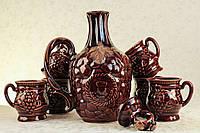 Штоф керамический  с чашками