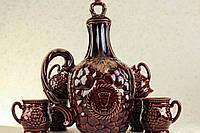 Керамический штоф с чашками