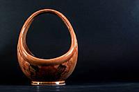 Конфетница керамическая Корзинка коричневая с виноградом