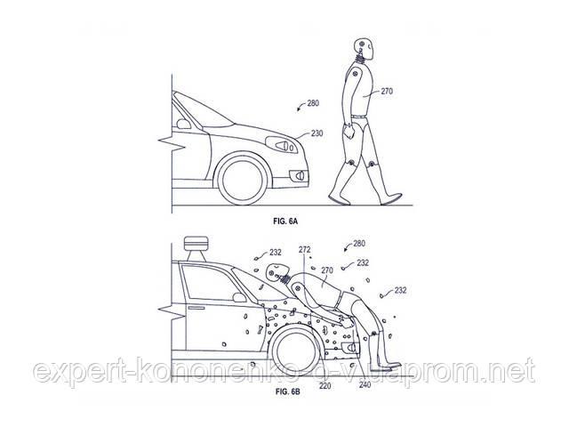 Самоуправляемые автомобили смогут приклеивать своих жертв на капот