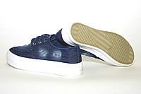 Мокасины джинсовые на шнурках подрастковые. Слипоны на белой подошве унисекс.