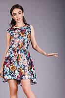 Очень красивое молодежное платье с 3D рисунком