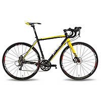 Велосипед 28'' PRIDE ROCKET CLARIS DISC рама - 56 см черно-желтый 2016