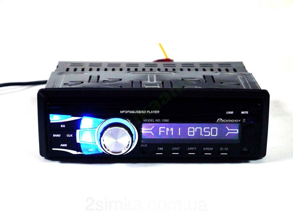 Автомагнитола Pioneer 1090 - MP3+FM+USB+SD-карта