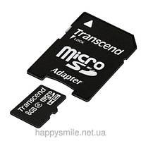 Карта памяти microSDHC Transcend 8 GB (class 4)