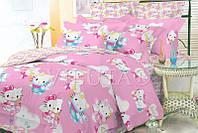 Детский полуторный постельный комплект белья Китти