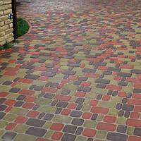"""Тротуарная плитка """"Старый город"""" h4 цвет на сером цементе"""