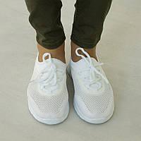 Кроссовки женские летние О-708 белые с сеткой (обувь спортивная, женская обувь весна-лето)